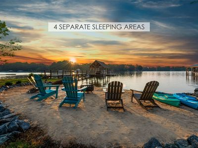 Photo for Lakeside Story - 4 SEPARATE SLEEPING AREAS