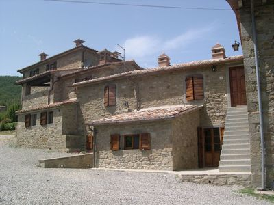 Photo for Beautiful  villa with private pool, WIFI, TV, patio, panoramic view and parking, close to Cortona