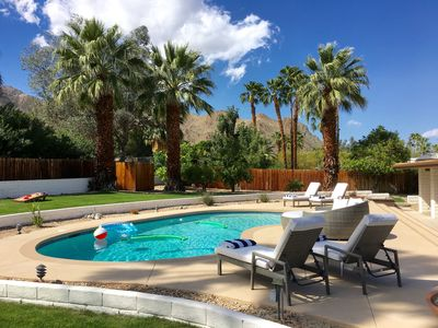 Photo for Greater Palm Springs - Modern desert retreat, 1/2 acre lot & private pool/spa