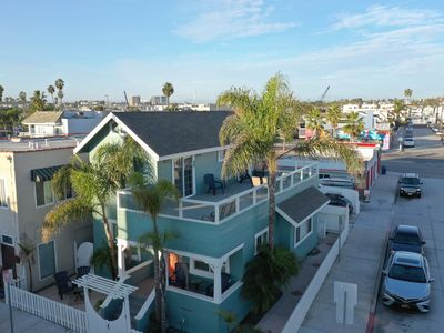 Photo for Steps to sand! Home with yard, Rooftop deck & ocean views-Newly Renovated