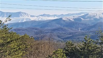 Snow topped mountains! Beautiful!