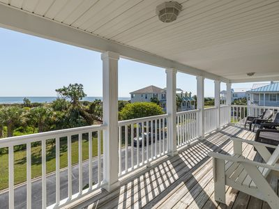 Photo for Premiere Neighborhood on North Tybee with Ocean Views from 2 Porches, Pet friendly