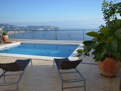 Photo for Mountainside villa and view overlooking the sea, a paradise on earth
