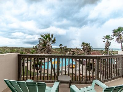 Beautiful views of the Gulf of Mexico and lagoon pools from this second floor two bedroom condominiu