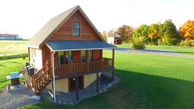 Photo for Beautiful Real Log  Home in the Finger Lakes Overlooking Seneca Lake near Geneva