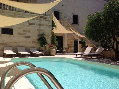 Photo for Historic maison with pool - rural big garden- near sea Otranto Castro  WI FI