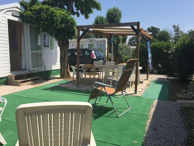 Photo for PROMO Mobile home Saint Aygulf air-conditioned Cote d Azur 2500m from the sandy beach