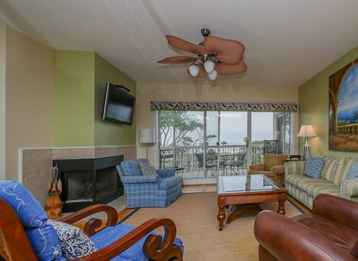 Living Area with Ocean Views at 304 Barrington Arms