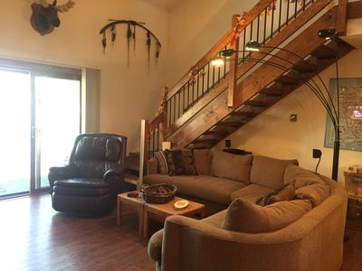 Photo for EXTREMELY COZY CONDO, SLEEPS 8  BACKING TO THE NATIONAL FOREST