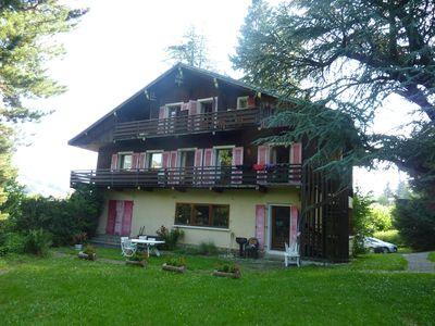 Photo for For rent duplex apartment in family cottage with garden center of Megeve