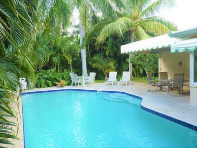 Photo for Boca Tropical Oasis, One Mile  to  Beach!