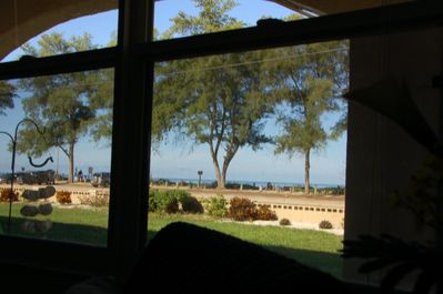 View partial water view from living room - just steps to the beach