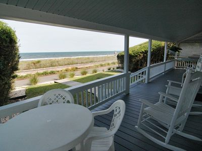 Photo for ~AUG*SPECIAL~Isolated, Huge Seaside Porch Near Pier, OCEANFRONT, STEPS TO BEACH