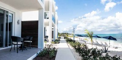 Photo for Beach Front 2-Bedroom Villa with private rooftop terrace & plunge pool