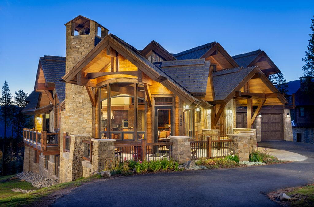 Luxury home steps from peak 8 with every am vrbo for Colorado style home plans