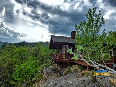 Photo for Perfect Mountain Getaway with a view and a hot tub.