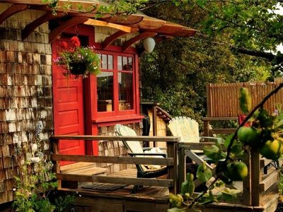 Photo for Orchard Cabin - A Cozy Cabin in a Peaceful Orchard Close to Ganges.