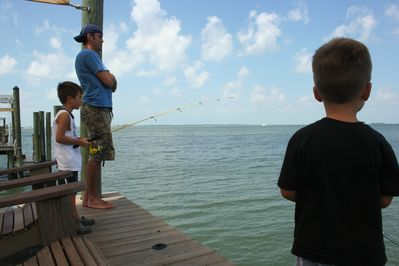 Fishing poles and tackle are included in your reservation.