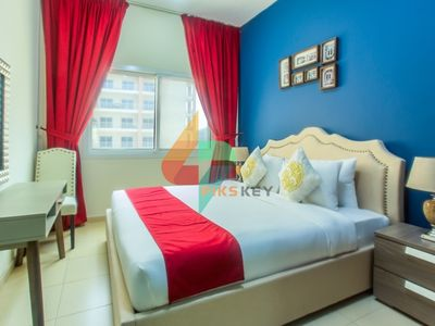 Photo for Modern Style 01 BR Apartment in Mazaya 17, Queue Point- Dubailand