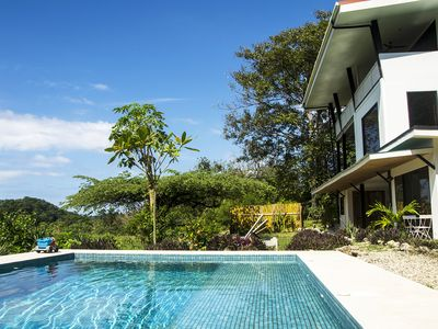 Photo for STUNNING oceanview villa Central Santa Teresa with POOL, Housekeeping, A/C, WIFI