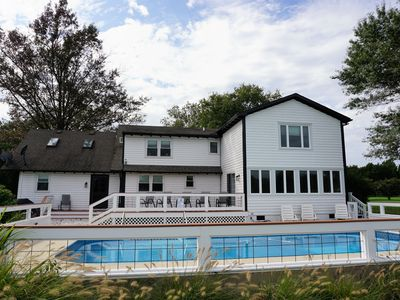 Photo for TRUE IN-TOWN SAINT MICHAELS 5.5 ACRE WATERFRONT w/POOL!!!