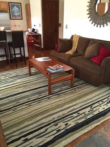 Bright comfortable living room. With Queen sofa sleeper, accommodates 4 total.