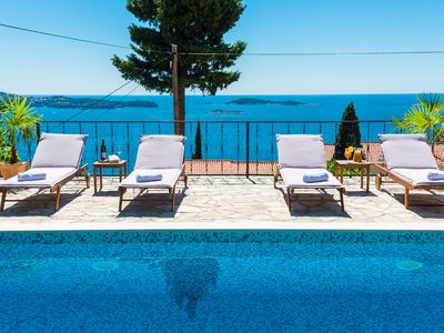 Photo for Chic villa with pool and sea view near Dubrovnik
