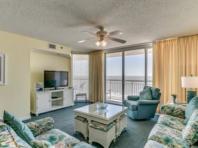 Photo for Crescent Shores 1202, 3 Bedroom Beachfront Condo, Hot Tub and Free Wi-Fi!
