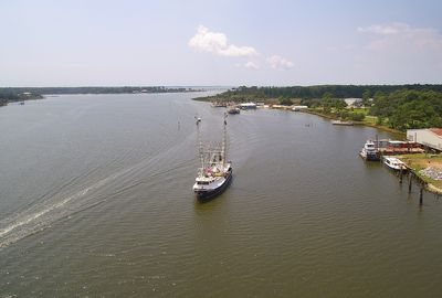Bon Secour River looking West from over our dock toward Mobile Bay