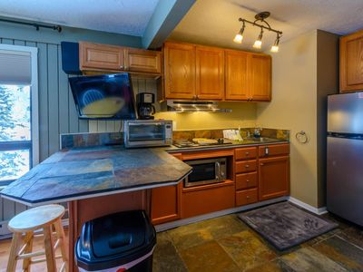 Photo for Cozy condo on chair 8! Only a short walk to the park and Bristlecone pond. Relax by your wood burnin