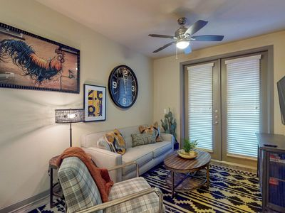 Photo for NEW LISTING! Modern retreat right downtown w/shared pool, near dining/shopping