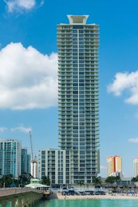 La Perla Building ocean front in  central of famous Sunny Isles Beach