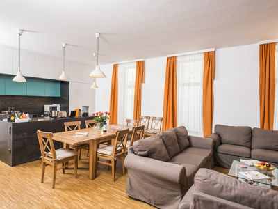 Photo for spacious apartment with 2 bedrooms and 40sqm garden ideal for families