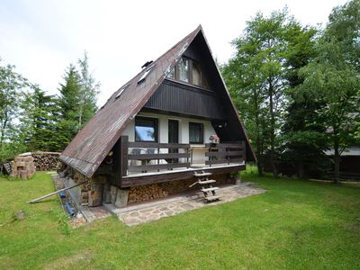 Photo for Nice holiday home with fireplace in the Ore Mountains only 500m from the chairlift