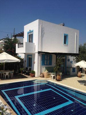 Photo for Villa with large private pool in a quiet village 5 mins drive to Lindos