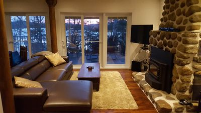 Photo for Beautiful Lakefront Chalet with Magnificent View near Mont-Tremblant
