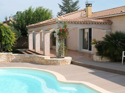 Photo for Beautiful modern villa with spacious pool within walking distance of the village