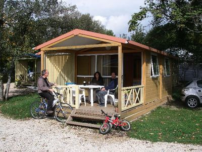 Photo for Camping L'Etang des Forges *** - Chalet Morea 3 Rooms 5 Persons