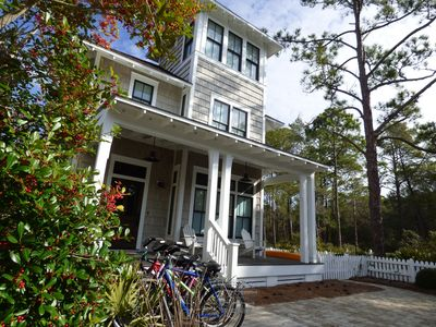 Photo for WATERSOUND-CLOSEST TO BEACH-5BR-SLEEPS 12 (9 bikes, kayak, pool across street)