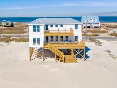 Photo for Gulf-front home w/multiple decks & amazing views steps from beach