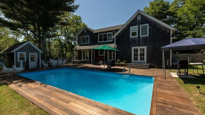 Photo for Sun-Filled Estate Just Outside East Hampton Village, Secluded Setting w/ Sprawling Backyard & Pool