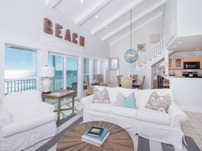 Photo for Beachfront - Large Balcony-Beach set-up included thru Oct.