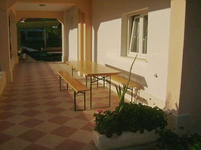 Photo for Two bedroom apartment with terrace Seget Vranjica, Trogir (A-17989-b)