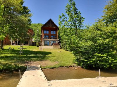 Photo for Ski Paradise- Lakefront Chalet with Hot Tub in Central Deep Creek Lake