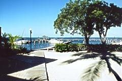 private marina with boat ramp