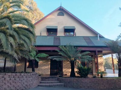 Photo for Two story mudbrick home nestled in the Dandenong Ranges.