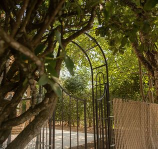 Gate to private entrance