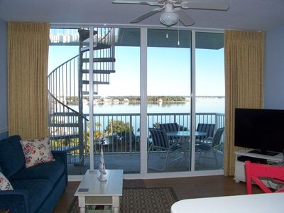 Photo for Bay side Penthouse-1 BR+Bunks-BEST VIEWS-2 balconies-BBQ on terrace