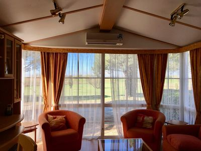 Photo for Panoramic Mobile Home 2 bedrooms, 42 m2, 2 terraces, air conditioning