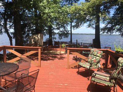 Outside deck on water's edge